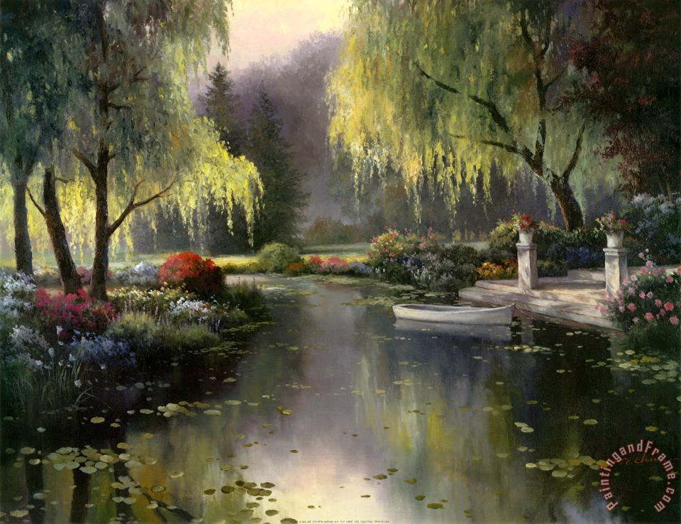 T. C. Chiu Willow Park Lake Art Print