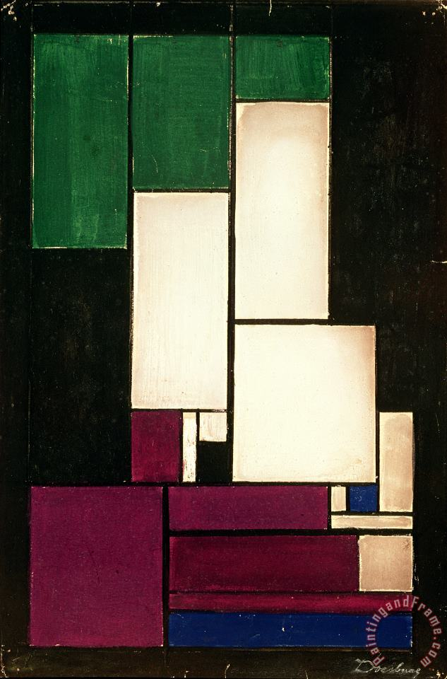 Theo van Doesburg Composition Art Painting