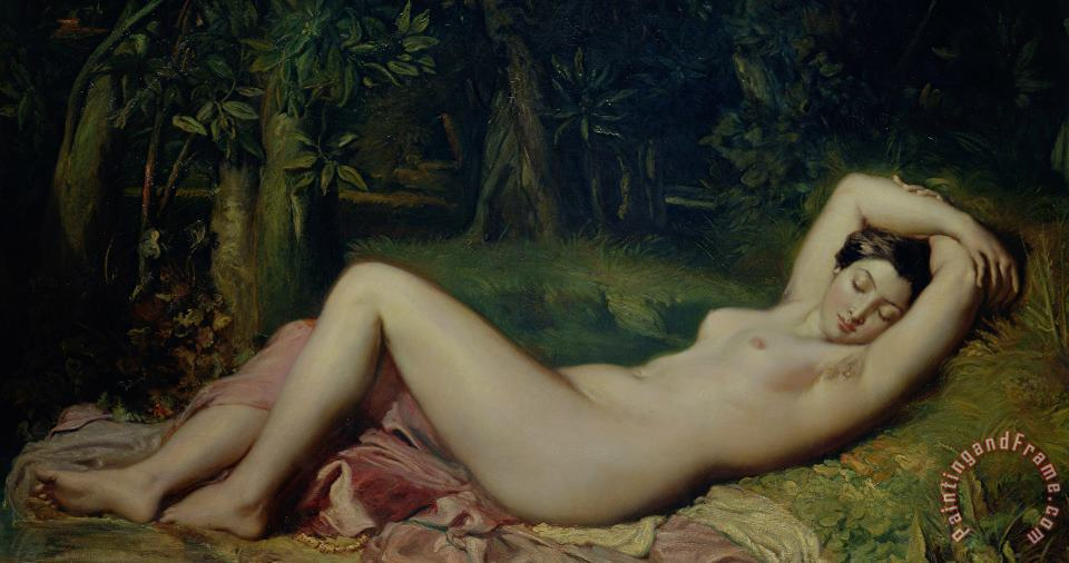 Theodore Chasseriau Sleeping Nymph Art Painting