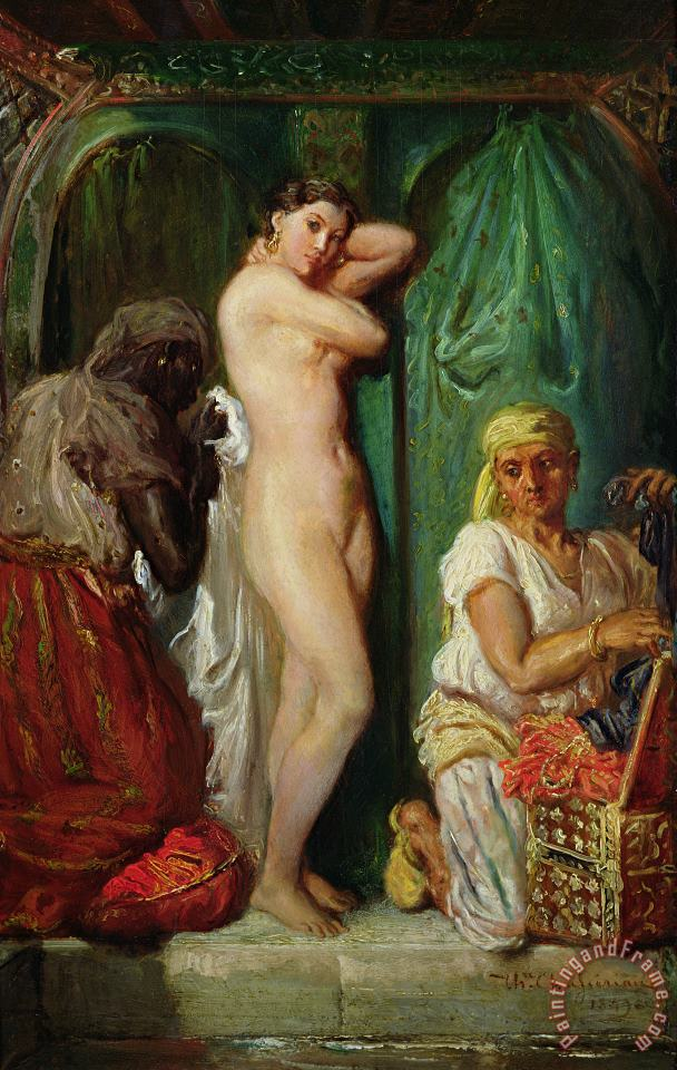 The Bath in the Harem painting - Theodore Chasseriau The Bath in the Harem Art Print