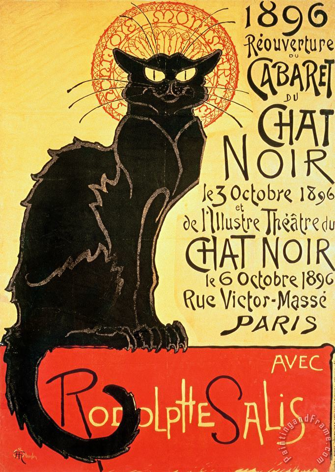 Reopening Of The Chat Noir Cabaret painting - Theophile Alexandre Steinlen Reopening Of The Chat Noir Cabaret Art Print