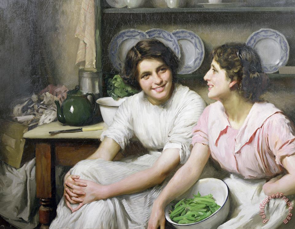 Chatterboxes painting - Thomas Benjamin Kennington Chatterboxes Art Print