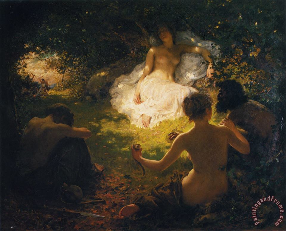 Serena Found of Savages painting - Thomas Benjamin Kennington Serena Found of Savages Art Print