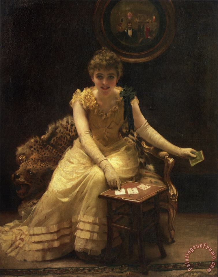The Ace of Hearts painting - Thomas Benjamin Kennington The Ace of Hearts Art Print