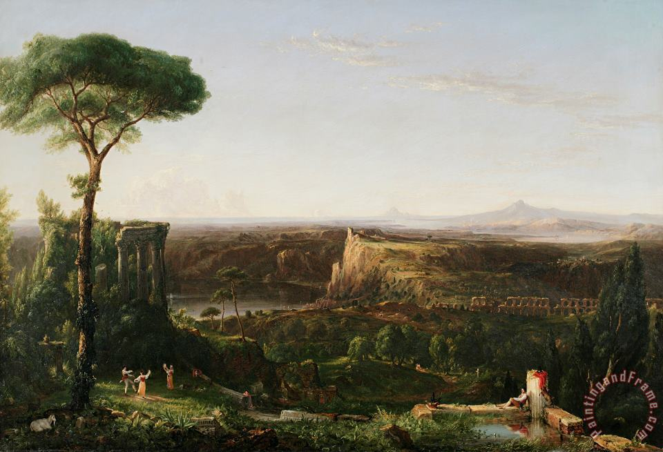 Italian Scene Composition painting - Thomas Cole Italian Scene Composition Art Print