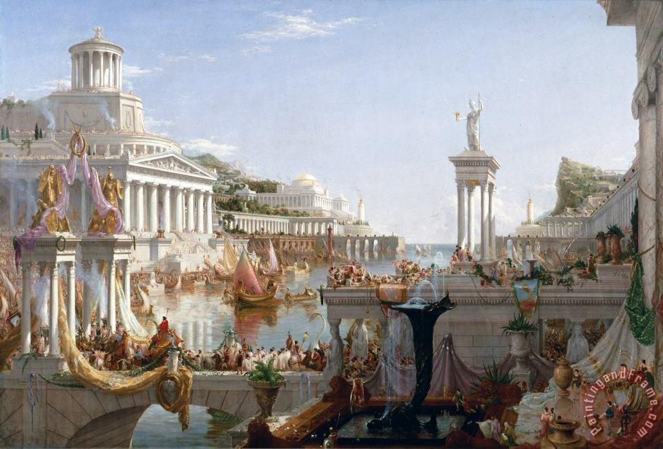 The Course of Empire Consummation painting - Thomas Cole The Course of Empire Consummation Art Print