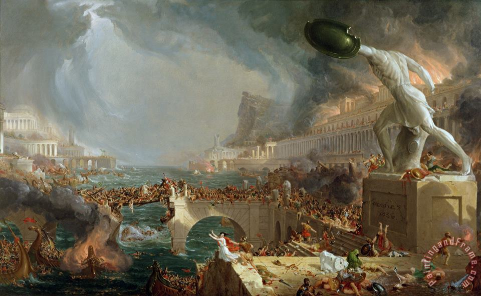 The Course of Empire - Destruction painting - Thomas Cole The Course of Empire - Destruction Art Print