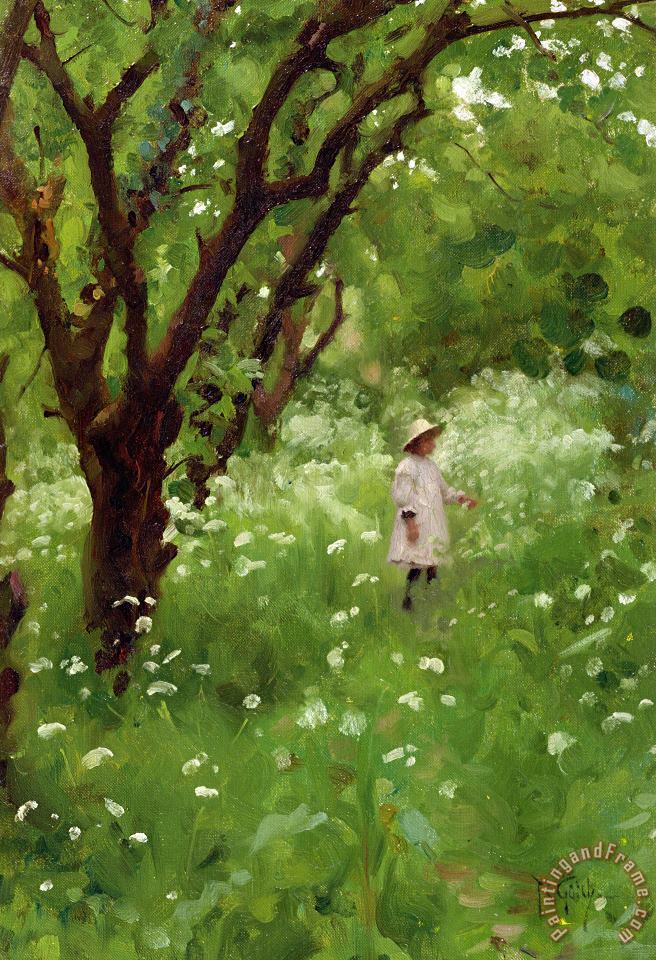 The Orchard painting - Thomas Cooper Gotch The Orchard Art Print