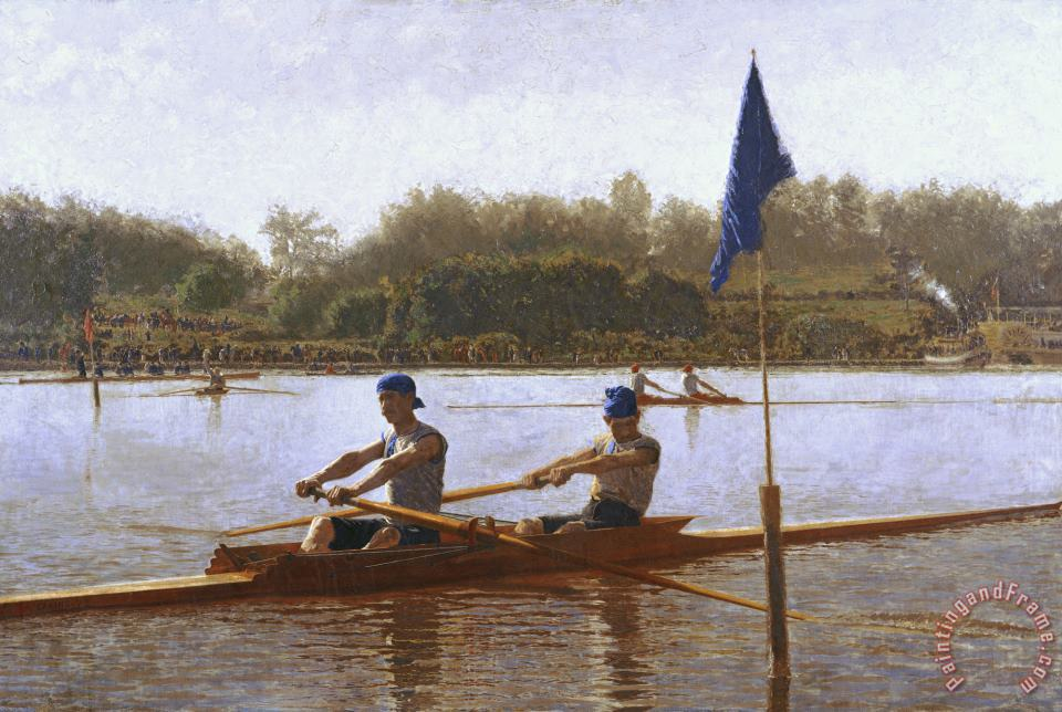 Biglen Brothers Turning The Stake painting - Thomas Eakins Biglen Brothers Turning The Stake Art Print