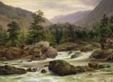 Norwegian Waterfall by Thomas Fearnley
