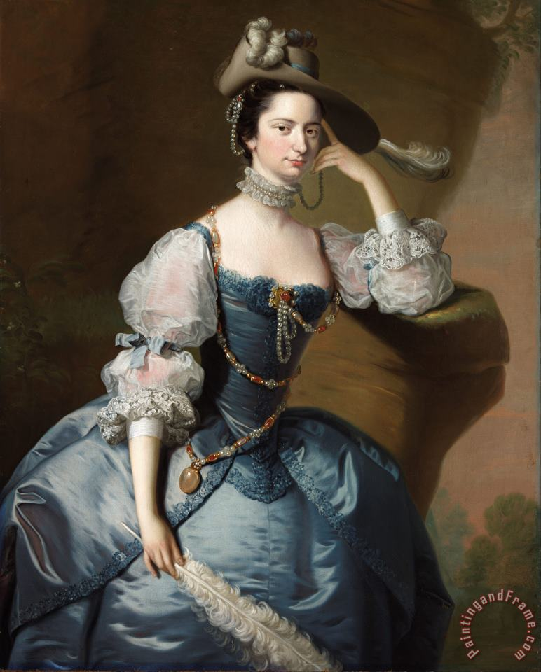 Lady Oxenden painting - Thomas Hudson Lady Oxenden Art Print