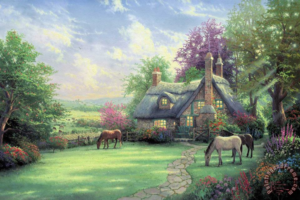 A Perfect Summer Day painting - Thomas Kinkade A Perfect Summer Day Art Print