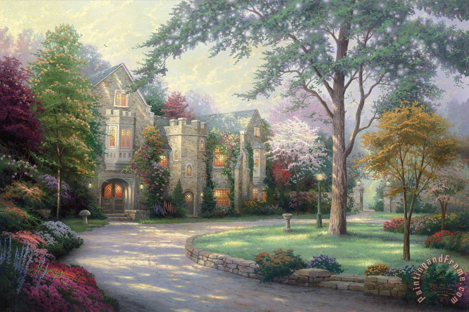 Thomas Kinkade Beyond Summer Gate Art Painting