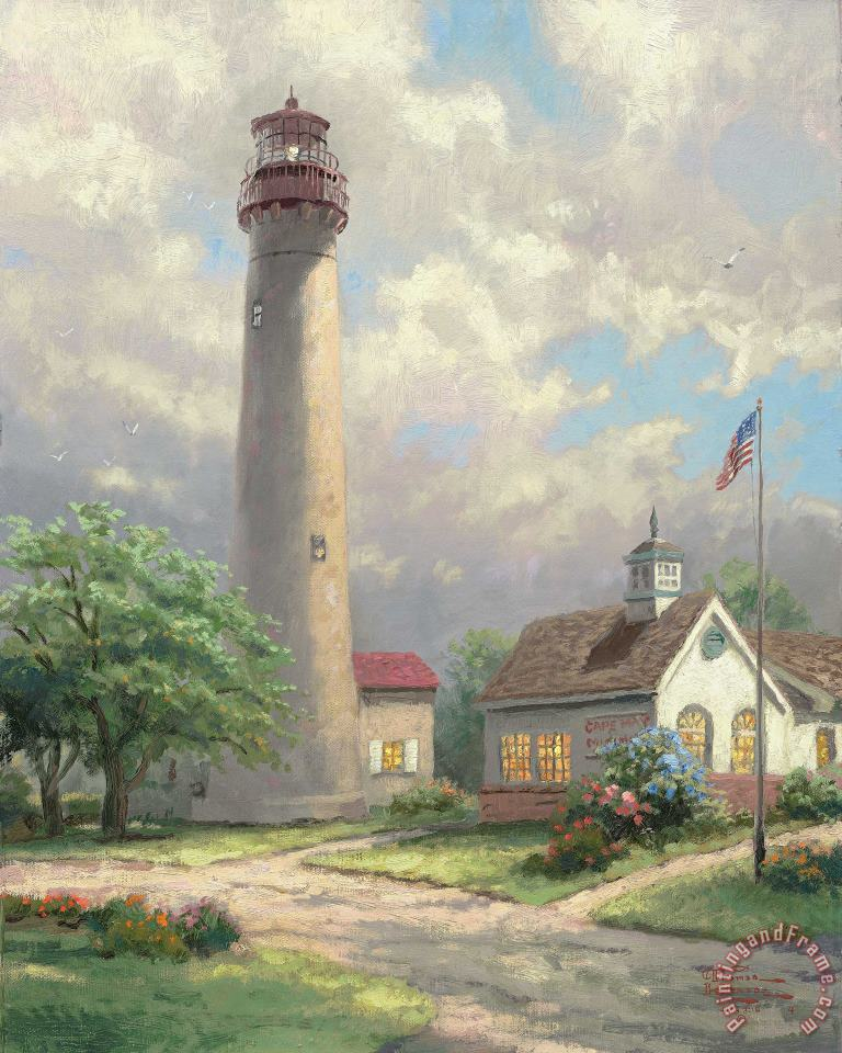 Cape May Light painting - Thomas Kinkade Cape May Light Art Print