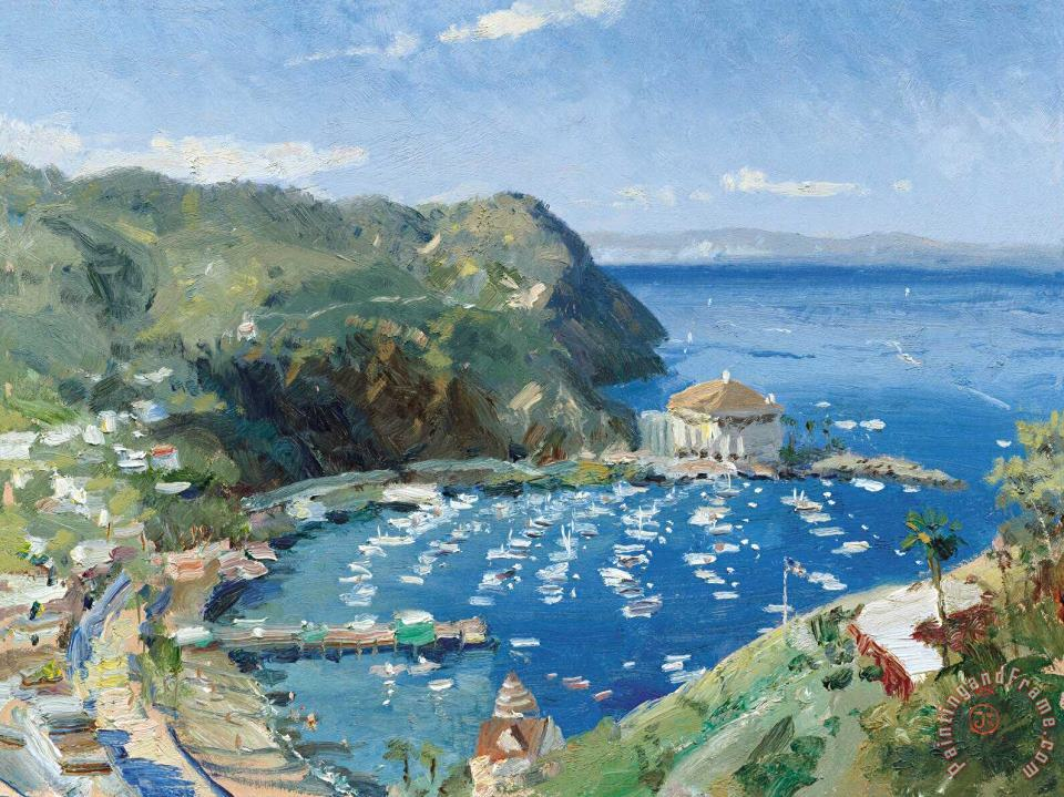 Catalina, View From Mt. Ada painting - Thomas Kinkade Catalina, View From Mt. Ada Art Print