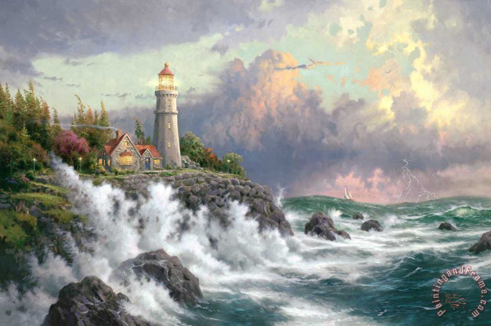 Thomas Kinkade Conquering The Storms Art Print