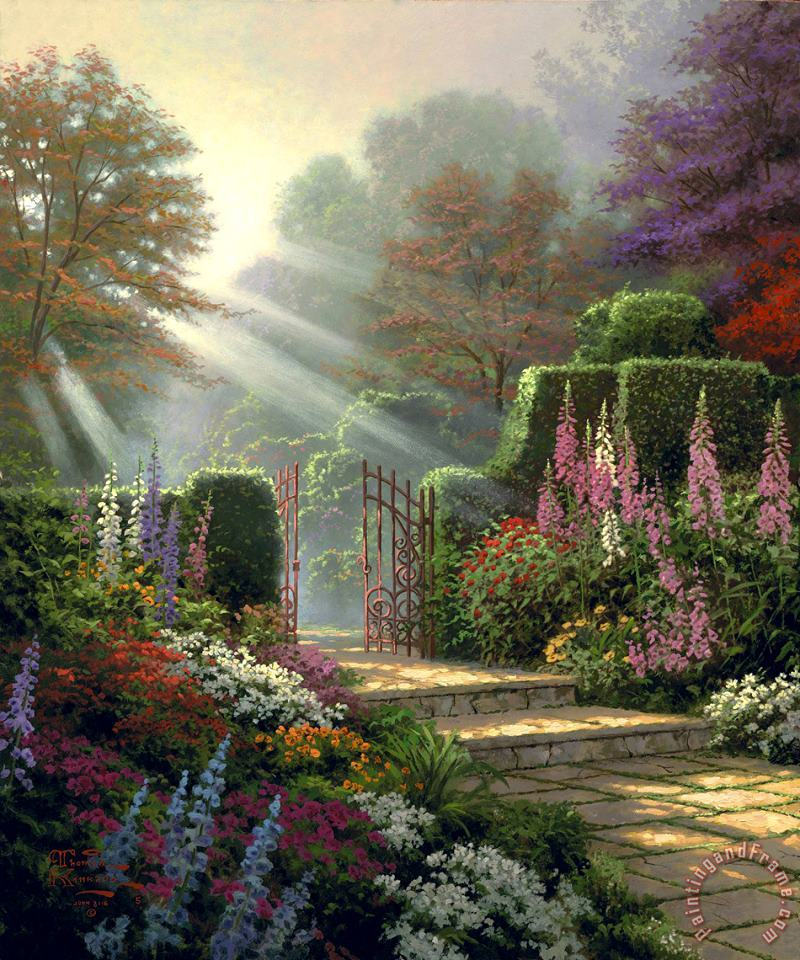Garden of Grace painting - Thomas Kinkade Garden of Grace Art Print