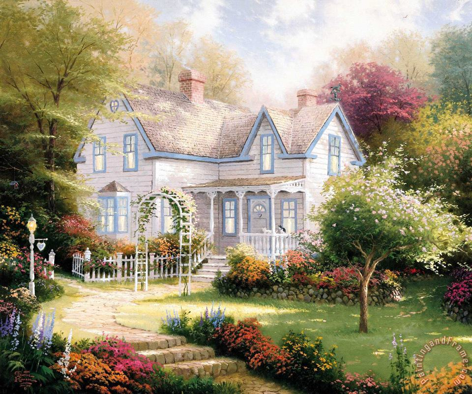 Home Is Where The Heart Is Ii painting - Thomas Kinkade Home Is Where The Heart Is Ii Art Print