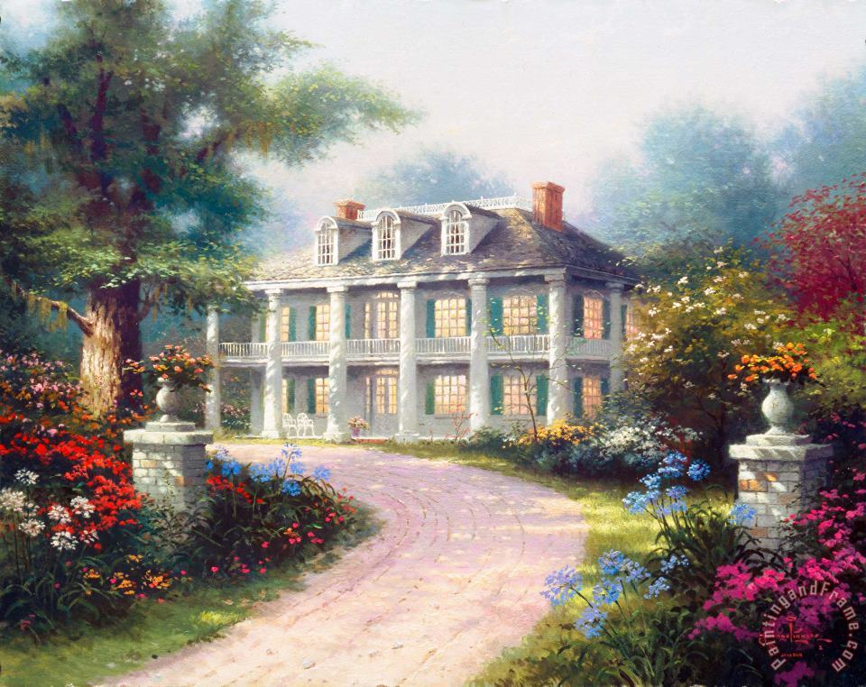 Thomas Kinkade Homestead House Art Print