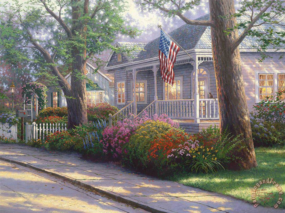 Thomas Kinkade Hometown Pride Art Print