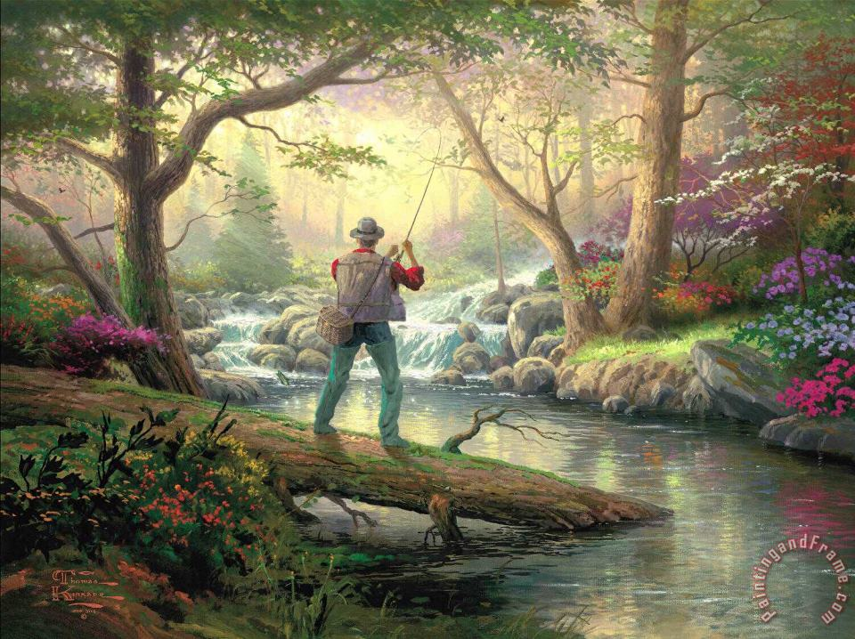 Thomas Kinkade It Doesn't Get Much Better Art Print