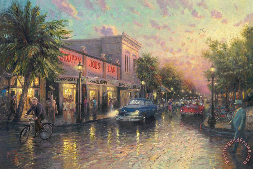 Thomas Kinkade Key West Art Print
