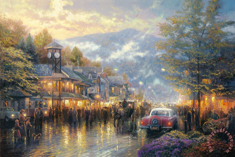 Mountain Memories painting - Thomas Kinkade Mountain Memories Art Print
