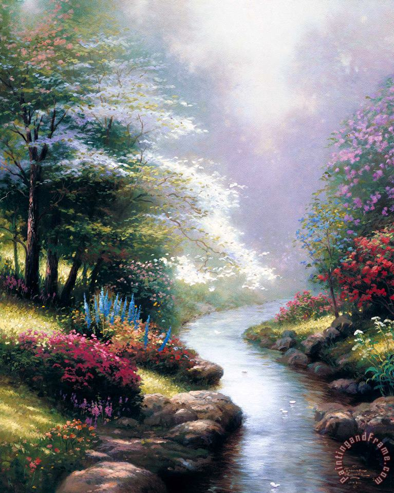 Thomas Kinkade Petals of Hope Art Painting