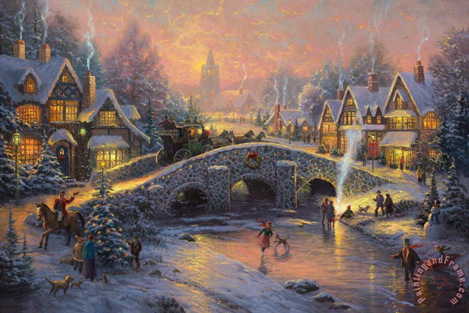 Thomas Kinkade Spirit Of Christmas Painting - Spirit Of Christmas Print For  Sale