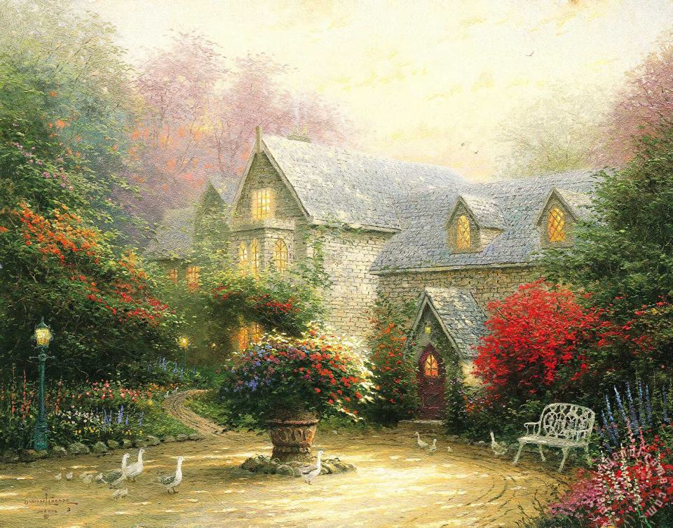 The Blessings of Spring painting - Thomas Kinkade The Blessings of Spring Art Print