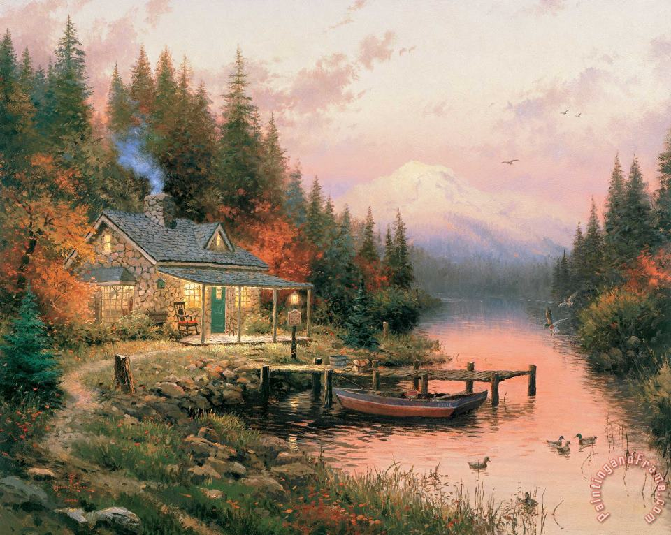 The End of a Perfect Day painting - Thomas Kinkade The End of a Perfect Day Art Print