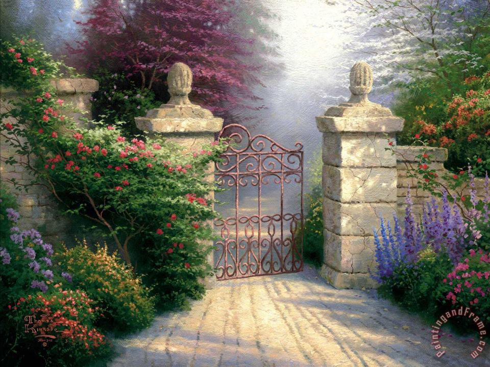 The Open Gate painting - Thomas Kinkade The Open Gate Art Print