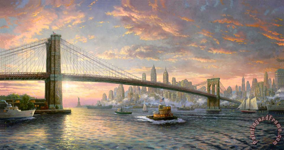 The Spirit of New York painting - Thomas Kinkade The Spirit of New York Art Print