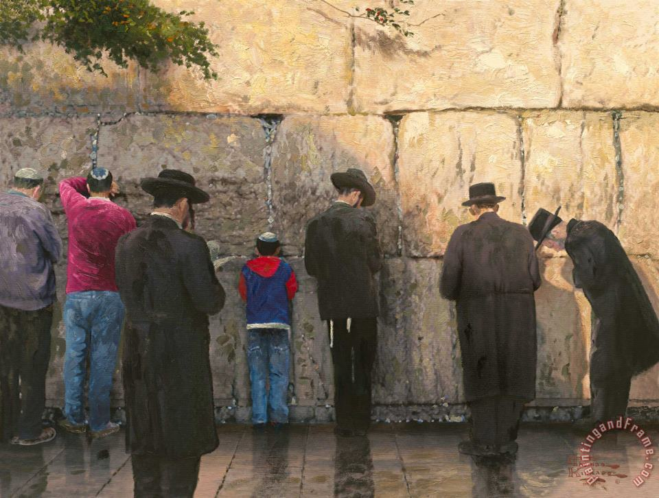 Thomas Kinkade The Wailing Wall, Jerusalem Art Painting