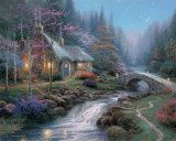 Twilight Cottage by Thomas Kinkade