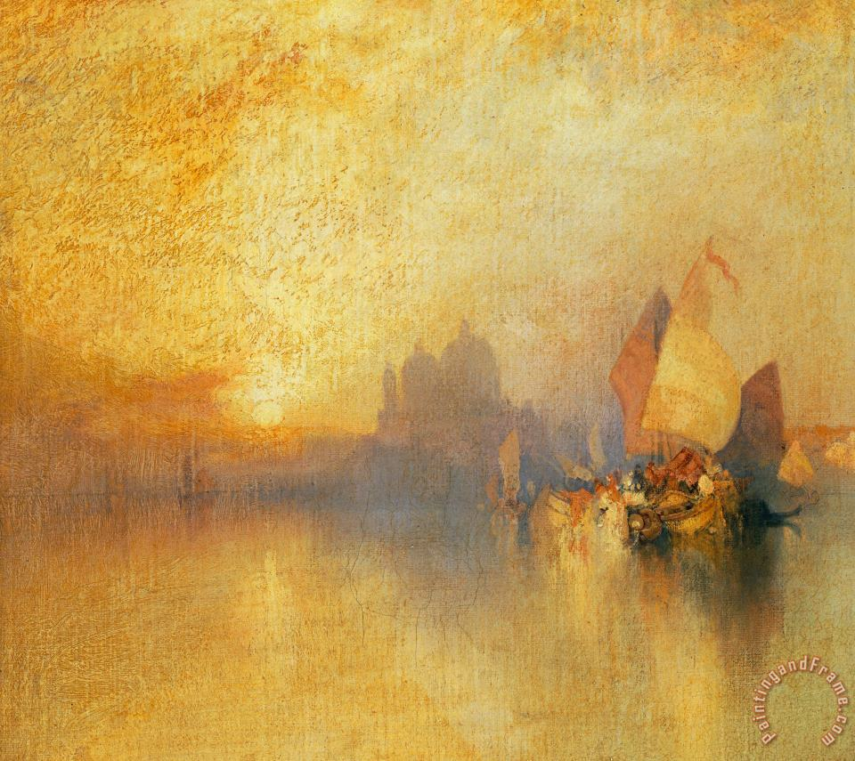 Opalescent Venice painting - Thomas Moran Opalescent Venice Art Print