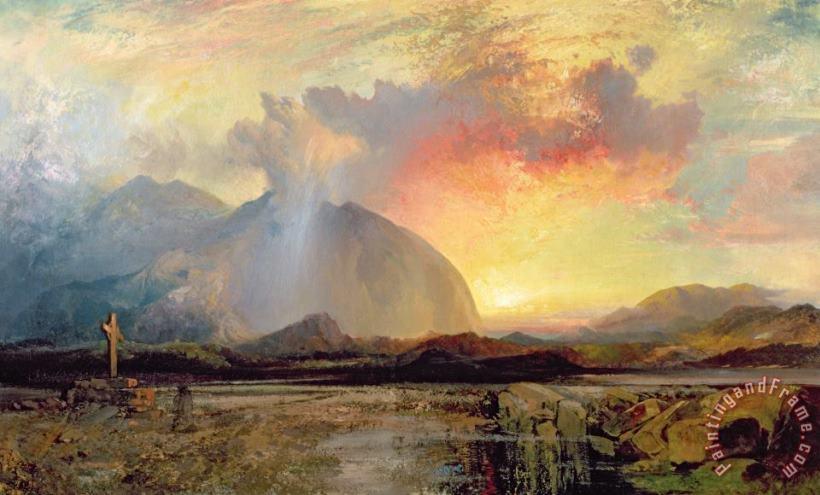 THOMAS MORAN POSTER Mountain Landscape Art Print