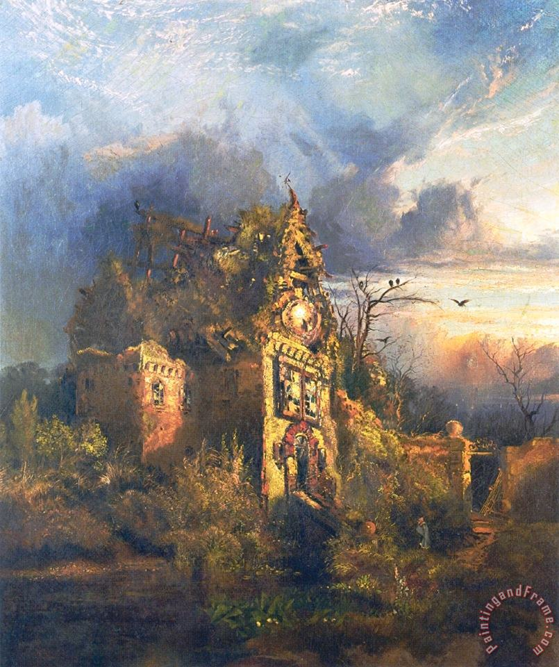 Thomas Moran The Haunted House Art Print