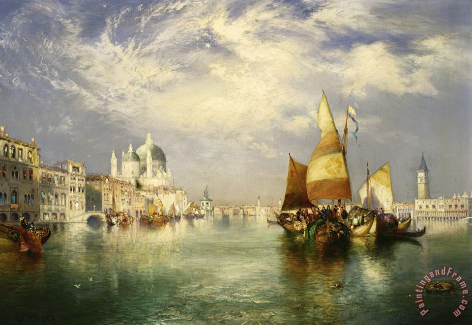 Venetian Grand Canal painting - Thomas Moran Venetian Grand Canal Art Print