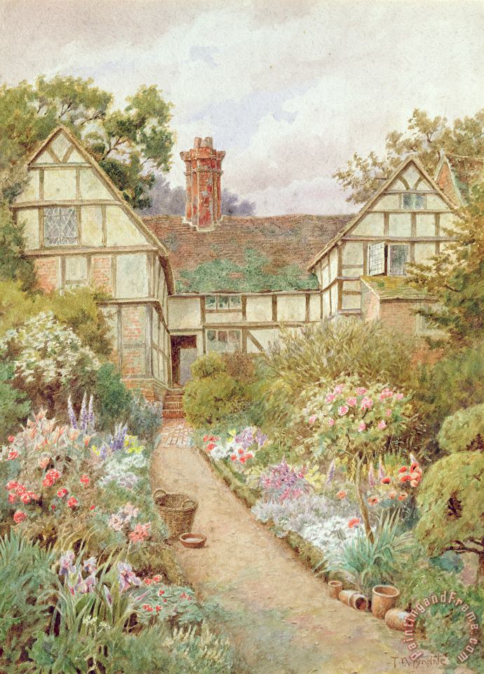 Cottage Garden painting - Thomas Nicholson Tyndale Cottage Garden Art Print