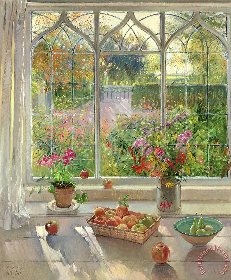 Timothy Easton Autumn Fruit And Flowers Art Print