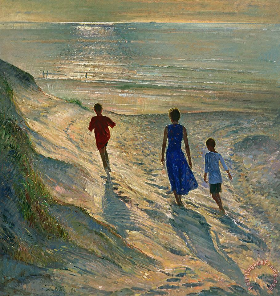 Timothy Easton Beach Walk Art Print