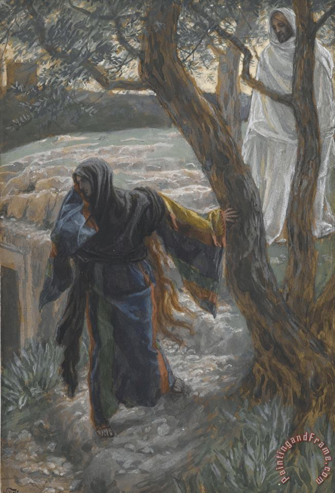 Jesus Appears to Mary Magdalene painting - Tissot Jesus Appears to Mary Magdalene Art Print
