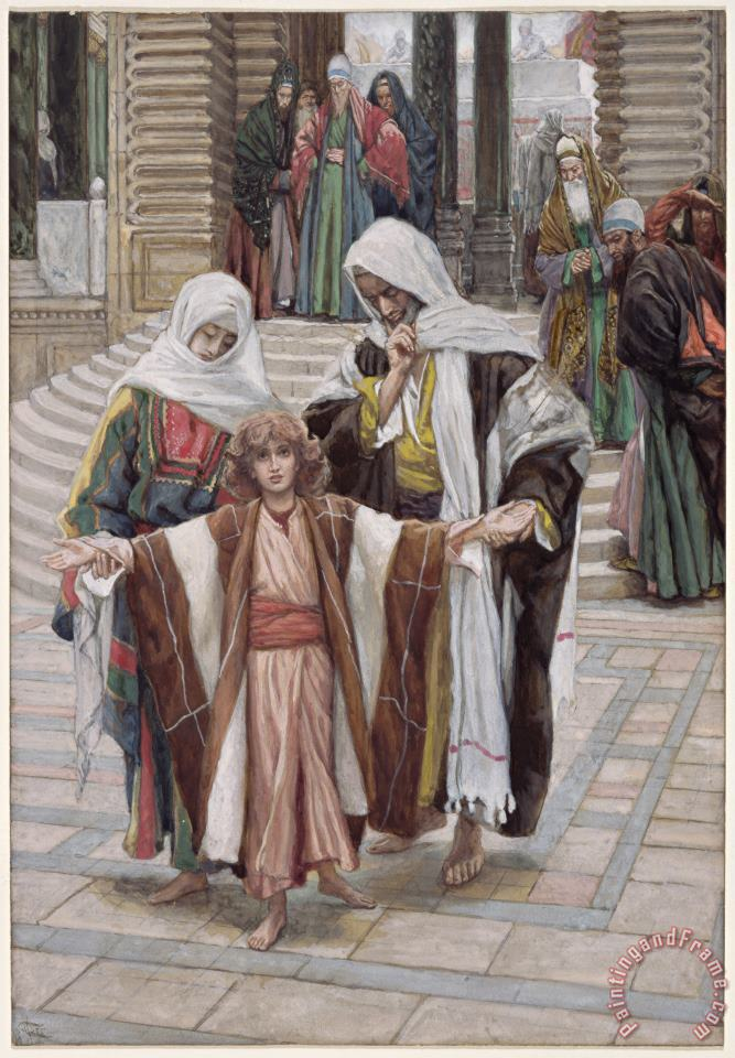 Jesus Found in the Temple painting - Tissot Jesus Found in the Temple Art Print