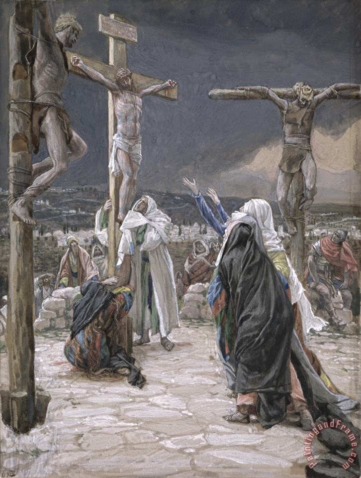 The Death of Jesus painting - Tissot The Death of Jesus Art Print