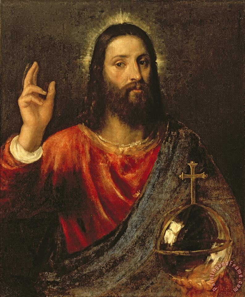 Christ Saviour painting - Titian Christ Saviour Art Print