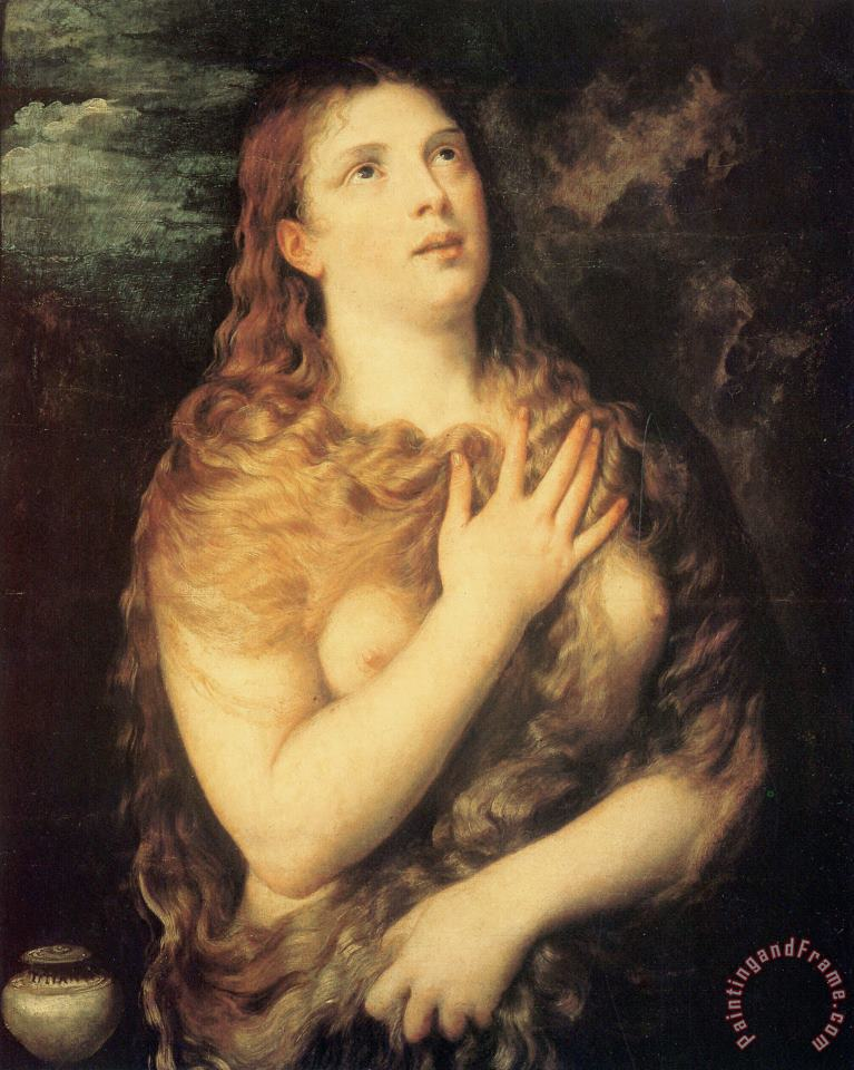 Mary Magdalen Repentant painting - Titian Mary Magdalen Repentant Art Print