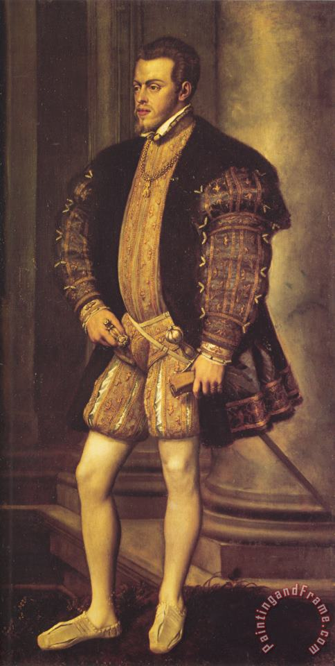 Portrait of Philip II painting - Titian Portrait of Philip II Art Print