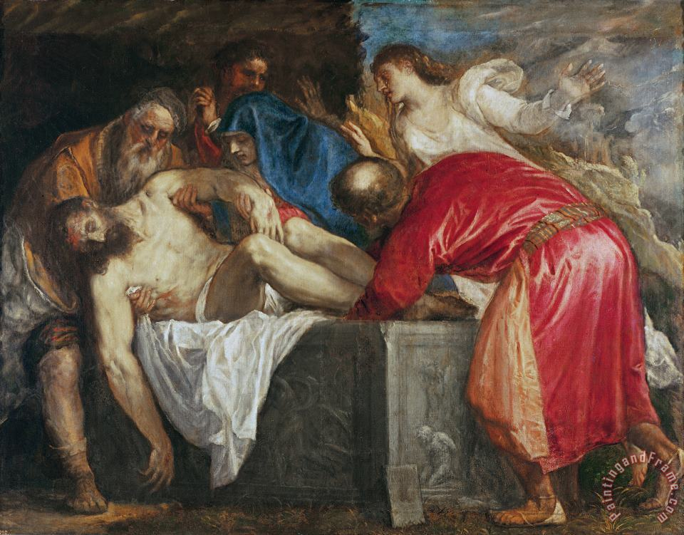Titian The Entombment of Christ Art Print