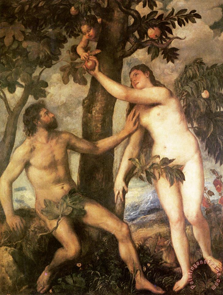 The Fall of Man painting - Titian The Fall of Man Art Print